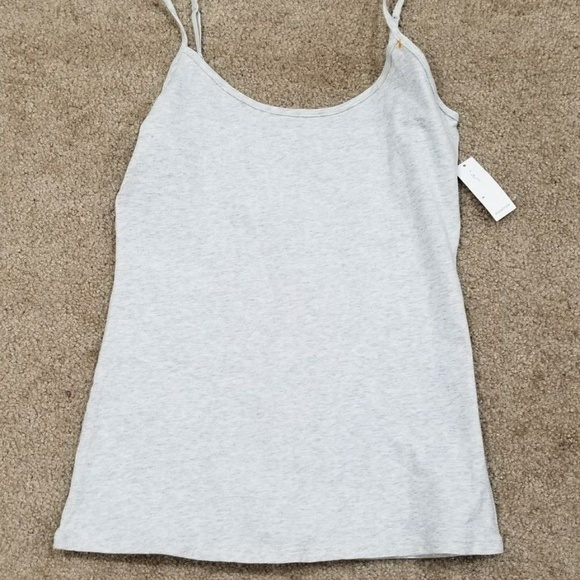 Old Navy Tops | Womens Fitted Greywhite Tank Top | Poshmark